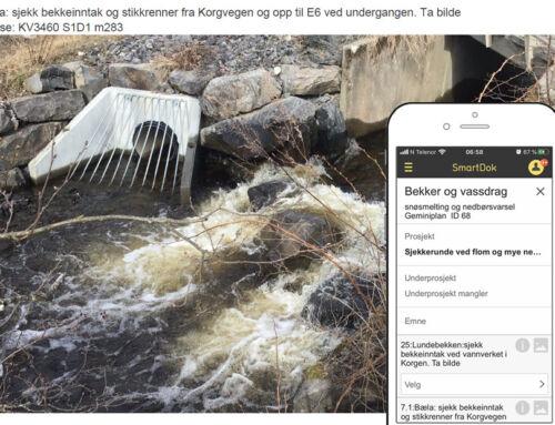 Sjekklister på mobilen har gjort flomberedskapen enklere for kommunen