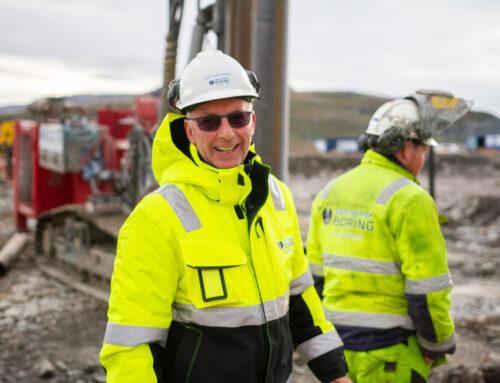 Sør-Norsk Boring i gang med å fundamentere for nye Hammerfest sykehus