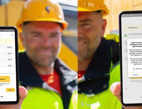 Signering av SJA på din egen mobil i SmartDok